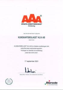 diplom för sveriges starkaste företag